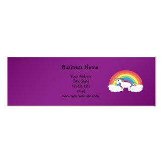 Regalos púrpuras del unicornio del arco iris plantillas de tarjetas de visita