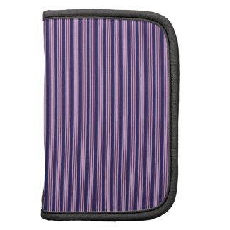 Regalos púrpuras femeninos del modelo rayado para organizador