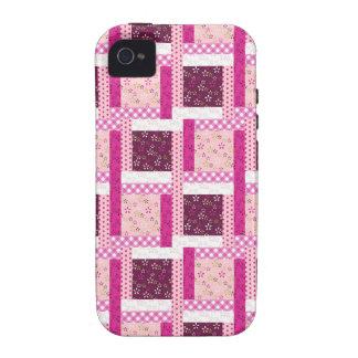 Regalos púrpuras rosados bonitos del diseño del ed iPhone 4/4S fundas