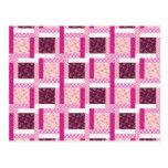 Regalos púrpuras rosados bonitos del diseño del postales