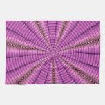 Regalos púrpuras rosados frescos del modelo del fr toallas de cocina
