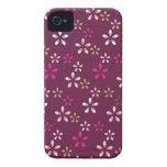 Regalos púrpuras y rosados del vino de la mora del iPhone 4 carcasas