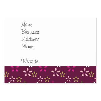 Regalos púrpuras y rosados del vino de la mora del tarjetas de visita grandes