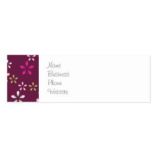 Regalos púrpuras y rosados del vino de la mora del tarjetas de visita mini