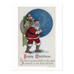 Regalos que llevan de GreetingSanta del navidad Tarjetas Postales