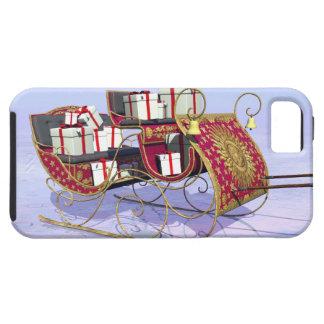 Regalos que llevan del trineo del navidad funda para iPhone 5 tough