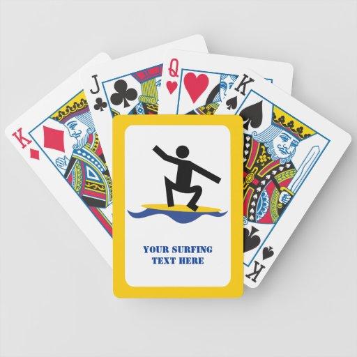 Regalos que practican surf, persona que practica s baraja cartas de poker