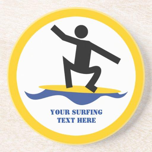 Regalos que practican surf, persona que practica s posavasos manualidades