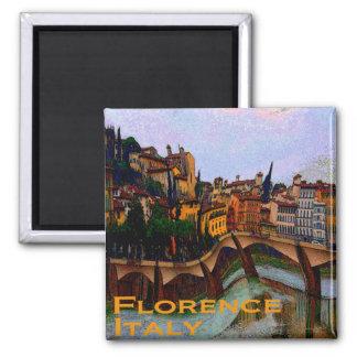Regalos raros del viaje - Florencia Italia Imán Cuadrado