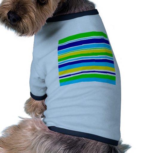 Regalos rayados del azul del amarillo de la cal de camisa de perrito