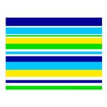 Regalos rayados del azul del amarillo de la cal postal