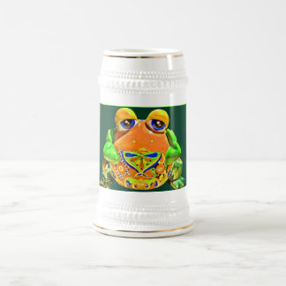 Regalos rayados verdes anaranjados de la novedad d tazas de café