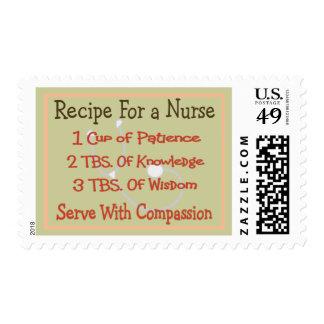 """Regalos """"receta de la enfermera para una enfermera timbre postal"""