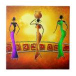 Regalos retros 03 del estilo del vintage de África Azulejos Cerámicos