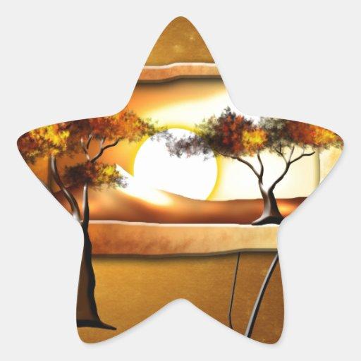 Regalos retros 10 del estilo del vintage de África Calcomanía Forma De Estrella