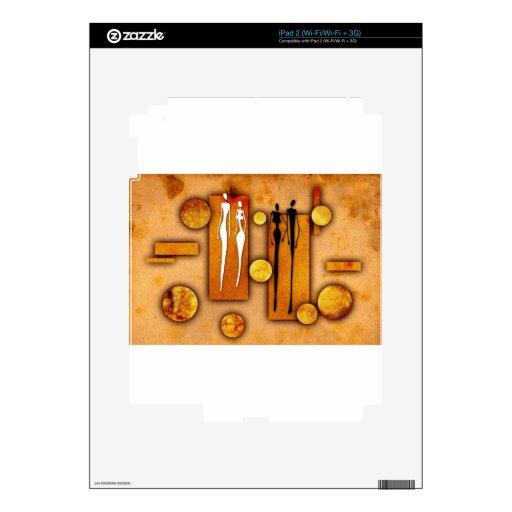 Regalos retros 21 del estilo del vintage de África Calcomanías Para iPad 2
