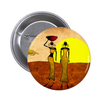 Regalos retros 24 del estilo del vintage de África Pin Redondo De 2 Pulgadas