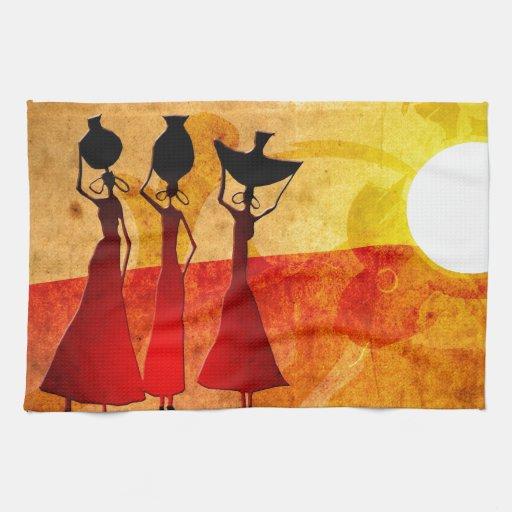 Regalos retros 27 del estilo del vintage de África Toallas De Cocina