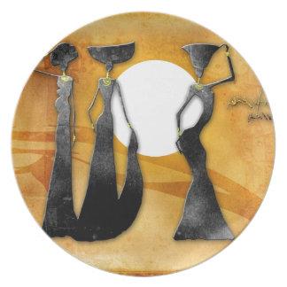 Regalos retros 28 del estilo del vintage de África Plato De Cena