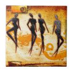 Regalos retros 33 del estilo del vintage de África Azulejos Ceramicos