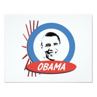 """Regalos retros de Favorable-Obama Invitación 4.25"""" X 5.5"""""""