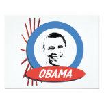 Regalos retros de Favorable-Obama Invitación 10,8 X 13,9 Cm