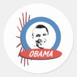 Regalos retros de Favorable-Obama Pegatina Redonda