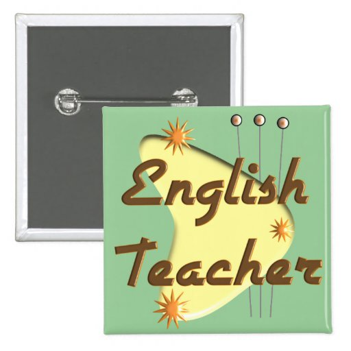Regalos retros del estilo del profesor de inglés pins