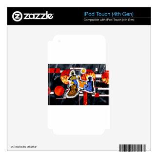 Regalos retros del estilo del vintage de África Calcomanía Para iPod Touch 4G