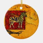 Regalos retros del estilo del vintage de África Ornamento De Navidad