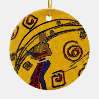 Regalos retros del estilo del vintage de África Adornos De Navidad
