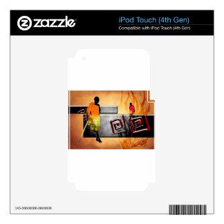 Regalos retros del estilo del vintage de África iPod Touch 4G Calcomanía