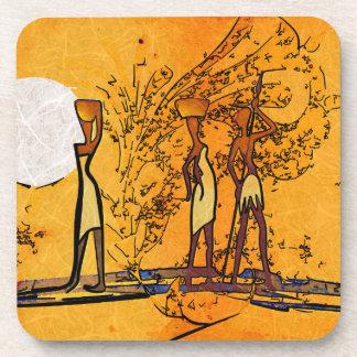 Regalos retros del estilo del vintage de África Posavasos De Bebidas