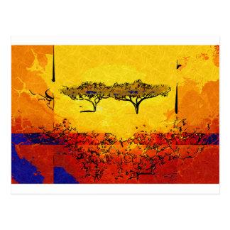 Regalos retros del estilo del vintage de África Tarjetas Postales