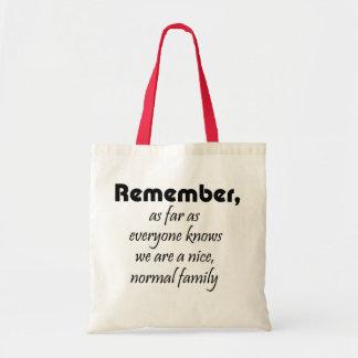 Regalos reutilizables de la familia de los bolsos