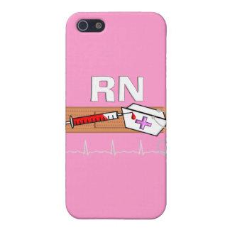 """Regalos """"RN """" registradoa de la enfermera iPhone 5 Carcasas"""