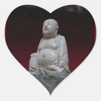 Regalos rojos antiguos de Buddah Sculptrue por Pegatina En Forma De Corazón