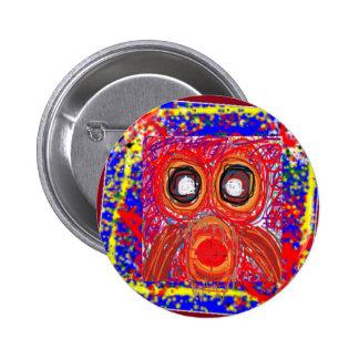 REGALOS rojos coloridos de la presa artística del  Pin Redondo De 2 Pulgadas