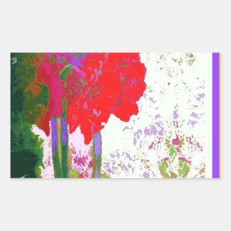 Regalos rojos de Plany del Amaryllis por Sharles Pegatina Rectangular