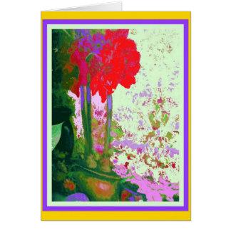 Regalos rojos de Plany del Amaryllis por Sharles Tarjeta De Felicitación