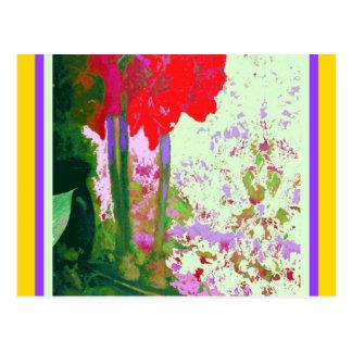 Regalos rojos de Plany del Amaryllis por Sharles Tarjeta Postal