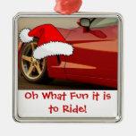 Regalos rojos del Corvette del navidad Ornaments Para Arbol De Navidad