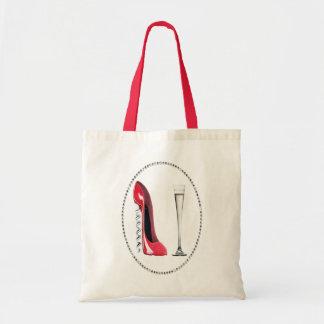Regalos rojos del estilete del sacacorchos y de la bolsa tela barata