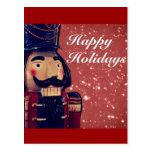 Regalos rojos del navidad del cascanueces postales