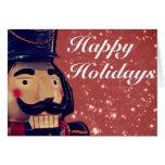Regalos rojos del navidad del cascanueces tarjetón