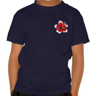 Regalos rojos del tema de Hawaii del hibisco Camisetas