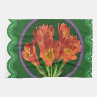 Regalos rojos elegantes del ramo floral 100 de la toalla de cocina