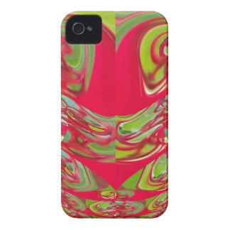 Regalos rojos y verdes de Hakuna Matata del Case-Mate iPhone 4 Fundas