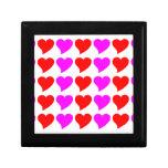 Regalos románticos de los chicas: Corazones rosado Cajas De Recuerdo