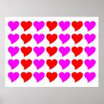 Regalos románticos de los chicas: Corazones rosado Impresiones